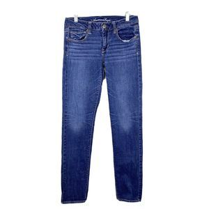 American Eagle Stretch Skinny Blue Jeans Mid Rise